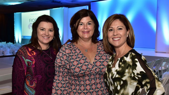 Trish Ames, Shelley Holzworth and Olympia Faulkner, at the 2016 Stepping Out in Style Fashion Show.