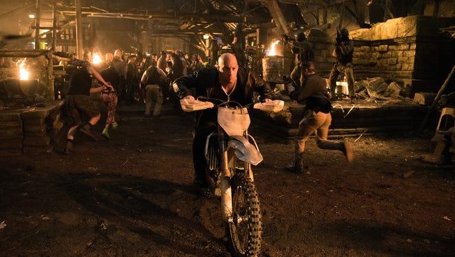 "Vin Diesel as Xander Cage in ""XXX: The Return of Xander Cage."""