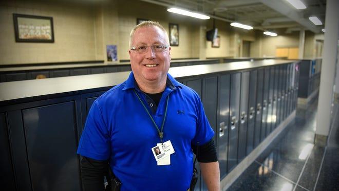 Sauk Rapids police officer Tim Sigler is a school resource officer in the Sauk Rapids school system.