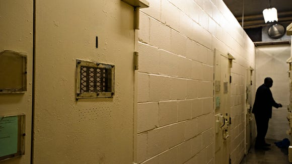Solitary confinement cells at Draper Correction Facility in Elmore County, Ala., on Monday, Feb. 6, 2017. Draper Correction Facility is the oldest correction facility in the state of Alabama. The prison opened in 1939. It is currently housing 1059 prisoners, Draper's designed capacity is 656.