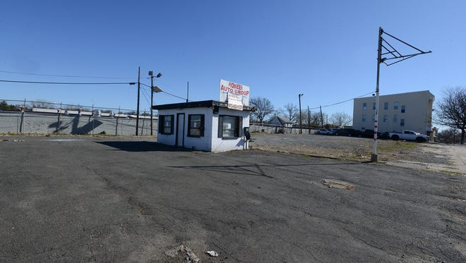 The former lot of the Pioneer Auto Group in Belleville, 72-102 Washington Ave., is under consideration by the township for zoning as an Area in Need of Redevelopment.