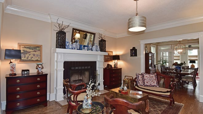 2340 Inverness Drive, a formal living space with a fireplace.