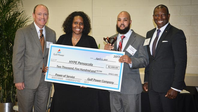 HYPE Pensacola is one of three local organizations honored by this year's Power of Service awards from Gulf Power Company.