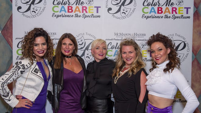 PLT Color me Carbaret - Rosa Roberts, Lindy Hurd, Heather Beirne, Erin Taliaferro and Susan Waters.