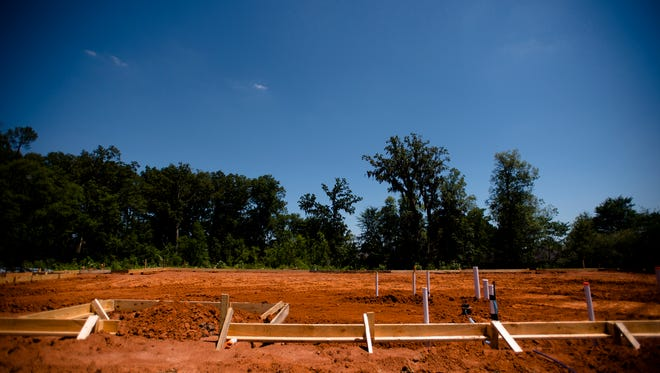 Construction of a mosque in East Montgomery, Ala., off of Vaughn Road on Friday, May 26, 2017. Ground was broken for the mosque on Thursday, May 27, 2017.