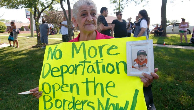 """Sabrina Bashar of Sterling Heights begs ICE not to deport her son, Tony Hormez, 42, who has spent most of his life in the U.S. """"He doesn't even speak Chaldean,"""" she says."""