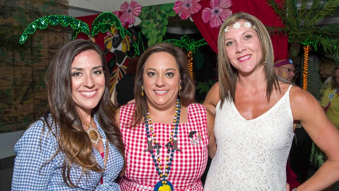 2017 Fiesta All Krewe Ball - Crissy Muelley, Sarah Dowlatkhah and Candy Smith.