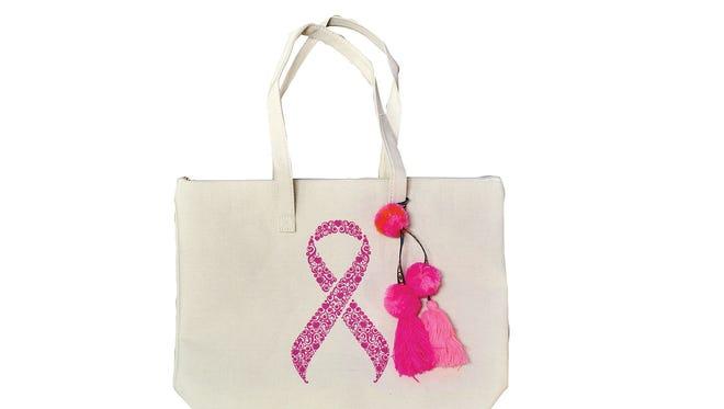Pink ribbon tote, $29.99, at the Sacred Heart Hospital Gift Shop.