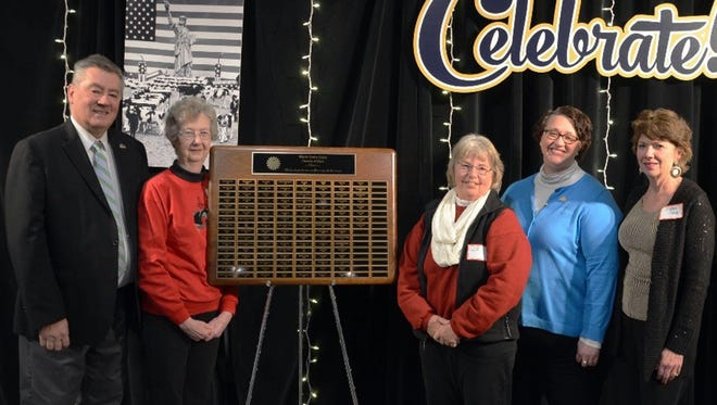 Chick Miller, Mary Langford, Rita Paulson, Marjorie Stieve and Debbie Crave were recognized for their contributions and dedication to World Dairy Expo at the Friends of Expo Party, December 12, 2016. Not pictured: Award winners Jim Dickrell and Joan Lau.