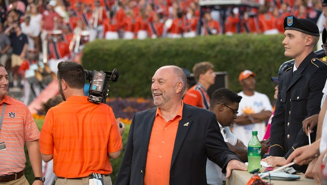 Auburn president Steven Leath during the NCAA football game between Auburn and Mississippi State on Saturday, Sept. 30, 2017 in Auburn, Ala.
