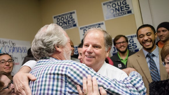 Democrats Senate nominee Doug Jones embraces campaign