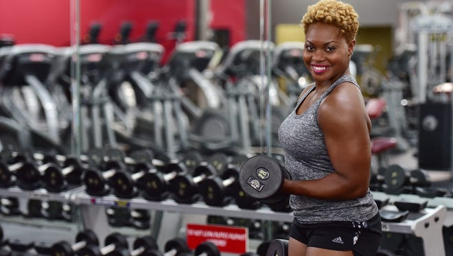 Kristie Tobias challenged herself last year to complete a bodybuilding competition.
