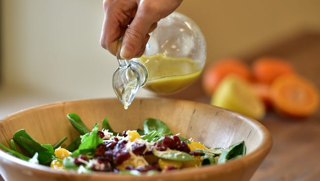 Cranberry Orange Spinach Salad with Light Balsamic Vinegarette, Ever'man Cooperative Grocery and Cafe.