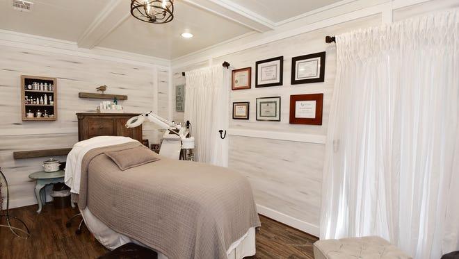 Lisa's spa, skin care space.