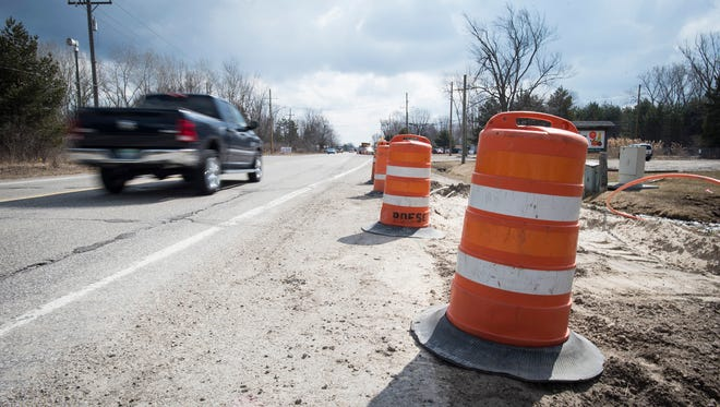 Utility work has begun near the intersection of Lapeer and Allen roads, where construction will begin on a roundabout in June. The project should be completed in July.