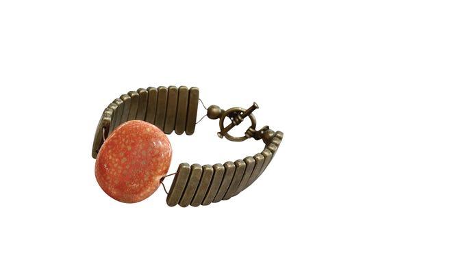Metal and Stone bracelet by Joy Schultz, $42, Lee Tracy.