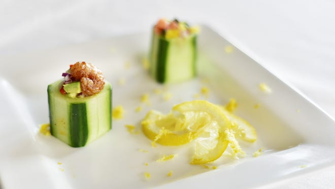 Stuffed Cucumber Cups, Culinary Productions.
