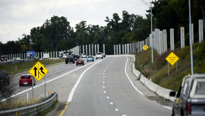 It took a contractor about 21 months to complete a $6 million sound wall project along U.S. 127. This is a Sept. 5, 2017 photo of the northbound freeway, near the Saginaw Street ramp.