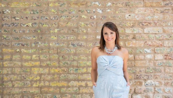 Jill Warren. Aijek jumper, Anthropologie; Seychelles shoes; Susan Campbell jewelry.