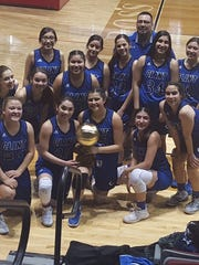 The Clint girl's basketball team celebrated it's bi-district