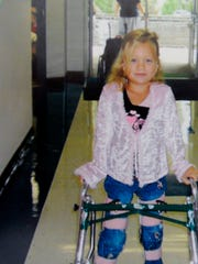 Emma Dinsmore after her accident. When Emma was 5,