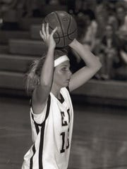 Madison Conradis of Melbourne, playing small forward during her athletic career at Eau Gallie High School.