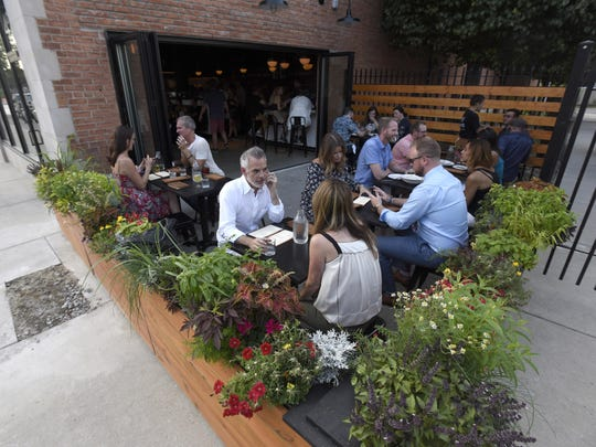 Since it opened July 28, the restaurant is packed most nights, and the addition of the small patio has helped ease the crunch.