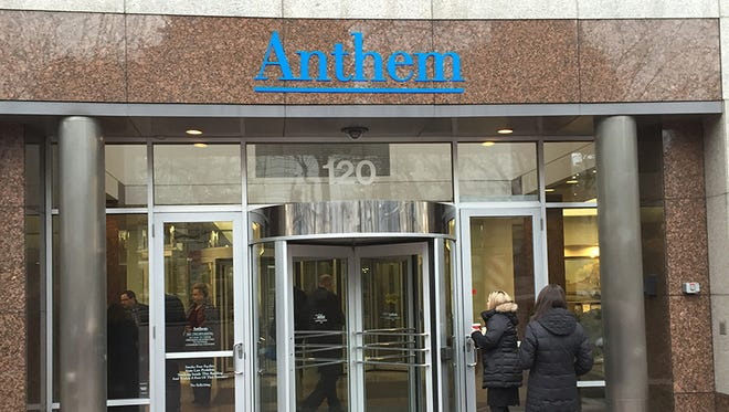 Anthem Inc.'s corporate headquarters is in Indianapolis. The health insurance company announced a data breach Wednesday, Feb. 4, 2015, that could affect 80 million current and former customers.