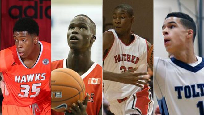 IU basketball's recruiting targets for 2016 and '17 include (from left to right) De'Ron Davis, Thon Maker, Jaren Jackson Jr. and Michael Porter Jr.
