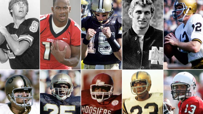 The best Indiana college football players never to win the Heisman Trophy.