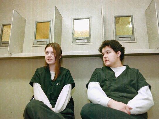 File photo: Natasha Cornett, left, and Crystal Sturgill