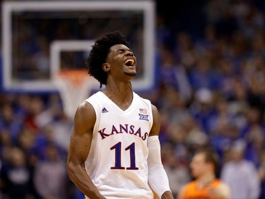 Former Kansas forward Josh Jackson could help the Lakers, defensively, if they were to select him No. 2 overall.