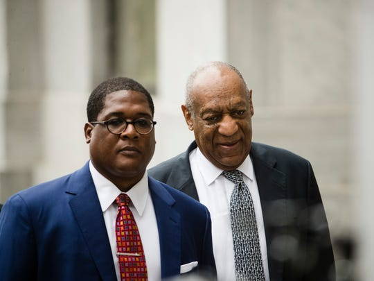 Bill Cosby and Andrew Wyatt at his sexual assault trial
