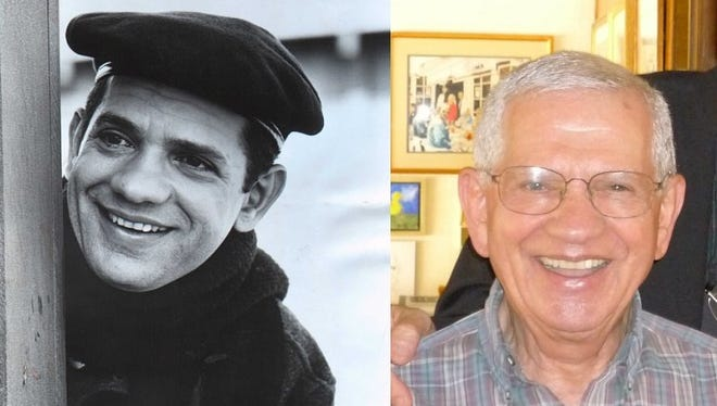 Robert Clary as Louis LeBeau in Hogan's Heroes and more recent photo.