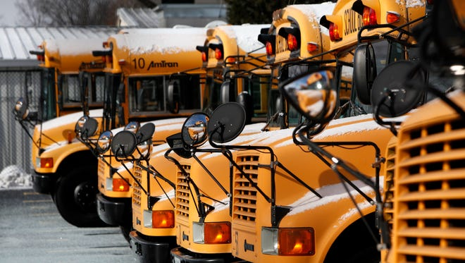 A 16-year-old was arrested Tuesday for shooting an airsoft gun at a school bus in Clermont County.