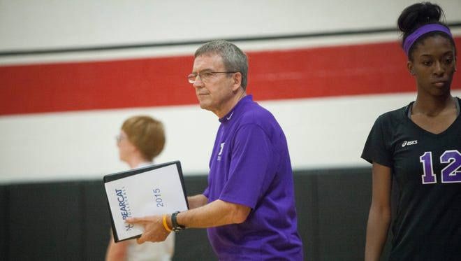 Central's Wes Lyon coaches against Wapahani during the 2015 season.