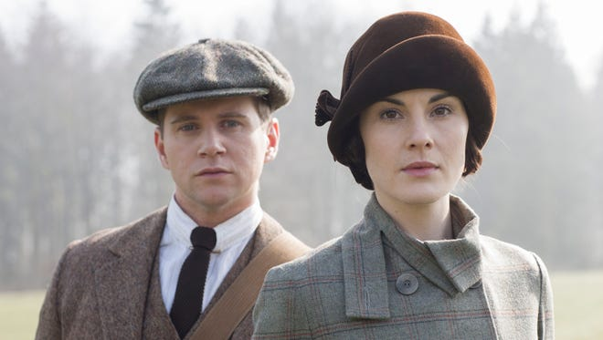 Confidantes Tom Branson (Allen Leech), left, and Lady Mary Crawley (Michelle Dockery) have each experienced joy and heartache over 'Downton Abbey's' first five seasons.