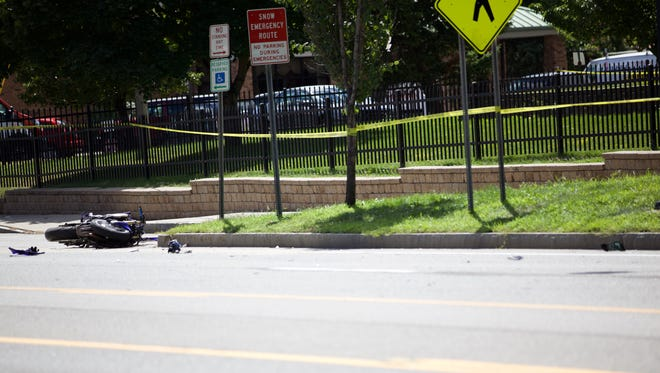 A pedestrian died Aug. 23 on Lake Avenue after a collision with a motorcyclist.
