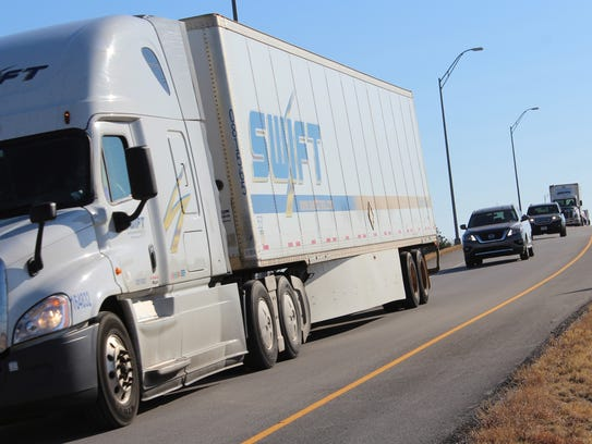 Westbound traffic on Interstate 20 was rerouted at the Business 80 exit to Loop 322 to avoid two crash scenes farther west on the highway.
