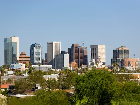 Skyline at the city of Phoenix Downtown, AZ