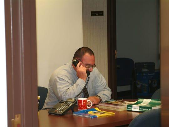 Lt. John Nevels working a case for HPD