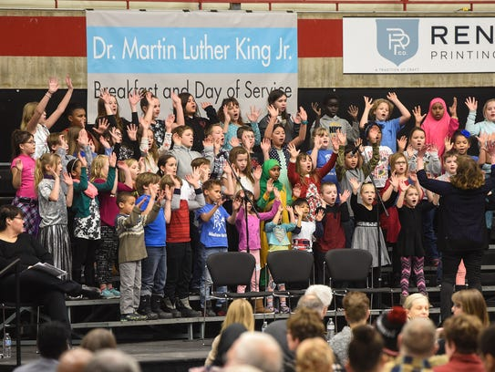 Madison Elementary School students perform during the