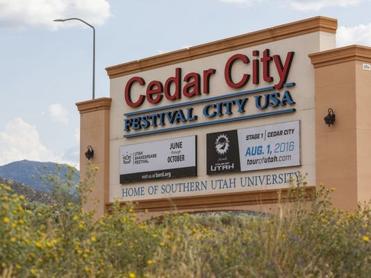 Cedar City sign