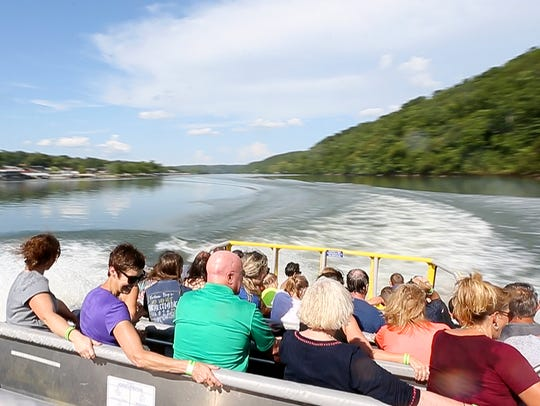 The Cyclone, the centerpiece of Branson Jet Boats,