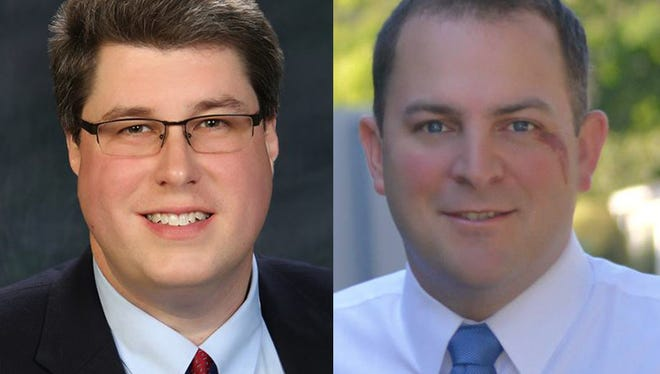 Christopher Burns (left) is challenging incumbent David Seeley for Irondequoit Town Supervisor.