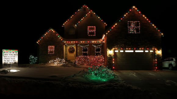 "The homes on ""Christmas Lane"" in Cedar City, like this"