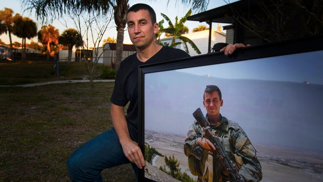 North Fort Myers resident Patrick Ryan Kasprik displays an image of himself as a combat medic in Syria where he volunteered to help combat ISIS.  Kasprik created an international incident after heading to Syria as a combat medic and was arrested by Iraqi police, where he was held in a jail there for three weeks. Once he returned home, he was arrested on an outstanding warrant for asssulting an officer prior to his departure. He spent about 75 days in Lee County jail.