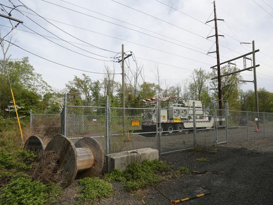 A temporary O&R substation on South Mountain Road in