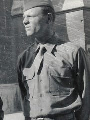 Wartime photo of Loren Greiner taken in Reims, France