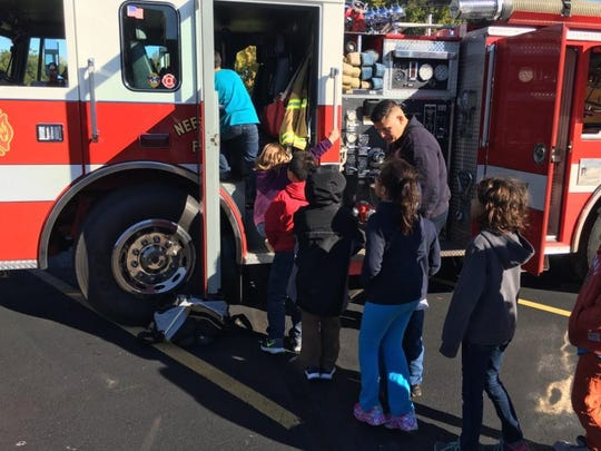 As part of Fire Prevention Month, the first- and second-grade students at Banta Bilingual Elementary School in Menasha were visited by Neenah-Menasha Fire Rescue.